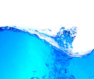 Clean water. Fresh clean water. Blue tint Stock Photography