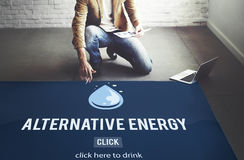 Clean Water Alternative Energy H2o Concept Stock Photography