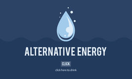 Clean Water Alternative Energy H2o Concept Royalty Free Stock Photo