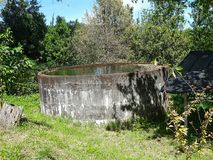 Water tank in the garden Royalty Free Stock Images