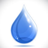 Clean Water Drop on white background Royalty Free Stock Images