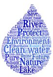 Clean water - Environmental protection and water preservation Stock Image