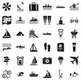 Clean water icons set, simple style Stock Images