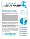 Clean Water Page Layout Stock Image