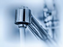 Tap water from a faucet Royalty Free Stock Image