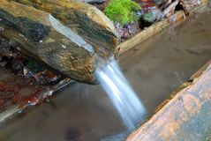 Clean water stream and gutter Stock Images