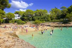 Cala D`Or, Mallorca. Clean waters of Cala D`Or, Majorca Stock Images