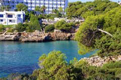 Cala Esmeralda, Mallorca. Clean waters of Cala Esmeralda, Majorca Royalty Free Stock Photos