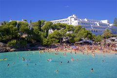 Cala Gran, Mallorca. Clean waters of Cala Gran, Majorca Royalty Free Stock Image