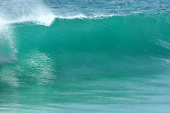 Clean wave. Empty wave rolls in royalty free stock image