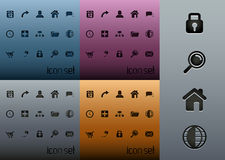 Clean Web 2.0 Icon Pack Stock Image