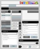 Clean web elements set 2 Stock Image
