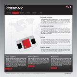 Clean  web site design template Royalty Free Stock Images