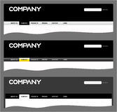 Clean web site headers Royalty Free Stock Photo