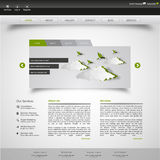 Clean Website Template Vector Eps 10 Stock Photo