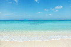 Clean white beach Royalty Free Stock Photography