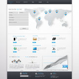 Clean White and Blue Business Website Template Design EPS 10 Royalty Free Stock Photography
