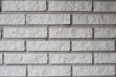 Clean White Brick Wall Background. Texture Stock Photography