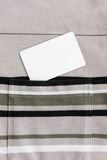 Clean white card in T-shirt pocket. Close up clean white card in T-shirt pocket stock image