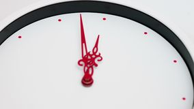 Clean White Clock Timelapse. stock video