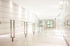 Clean white corridor Stock Image