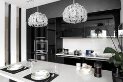 Clean white european kitchen Royalty Free Stock Images