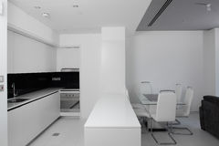 Clean white european kitchen Stock Image