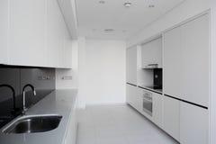 Clean white european kitchen Stock Photos