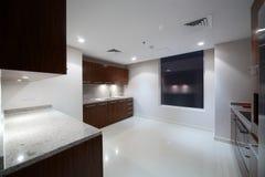 Clean white european kitchen Royalty Free Stock Image
