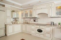 Clean white european kitchen Royalty Free Stock Photography