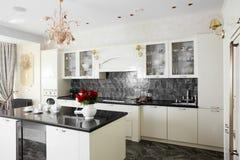 Clean white european kitchen Royalty Free Stock Photos