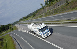 Clean white fuel truck Royalty Free Stock Photos