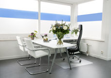 Clean white office Stock Photography