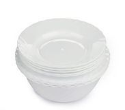 Clean white plates Royalty Free Stock Photo