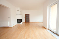 Clean white room. Interior of a country cottage stock images