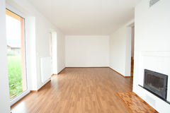Clean white room interior Royalty Free Stock Photography