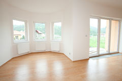 Clean white room interior Stock Images
