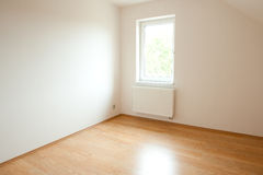 Clean white room interior Royalty Free Stock Image