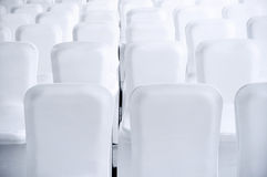 Clean white seats Royalty Free Stock Photography