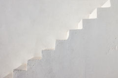 Clean white stairs. Seen on a greek island Royalty Free Stock Photos