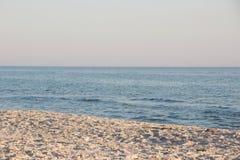 Clean wild beach on the Black Sea coast. Stock Photography