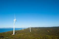 Clean Wind Farm Power Western Australia Stock Photos