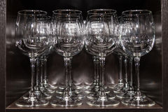 Clean wine glasses Royalty Free Stock Photos
