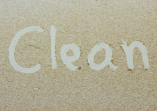 Clean written on  dirty car Royalty Free Stock Images