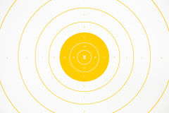 Clean yellow paper bullseye target. Clean and colorful yellow paper bullseye target Royalty Free Stock Images