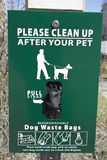 Clean after your dog Royalty Free Stock Photos