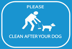 Clean after your dog sign Stock Photos