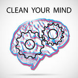Clean your mind Royalty Free Stock Photography