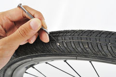 Clean your wheel Royalty Free Stock Image