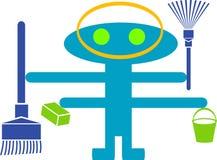 cleanar дом иллюстрация вектора